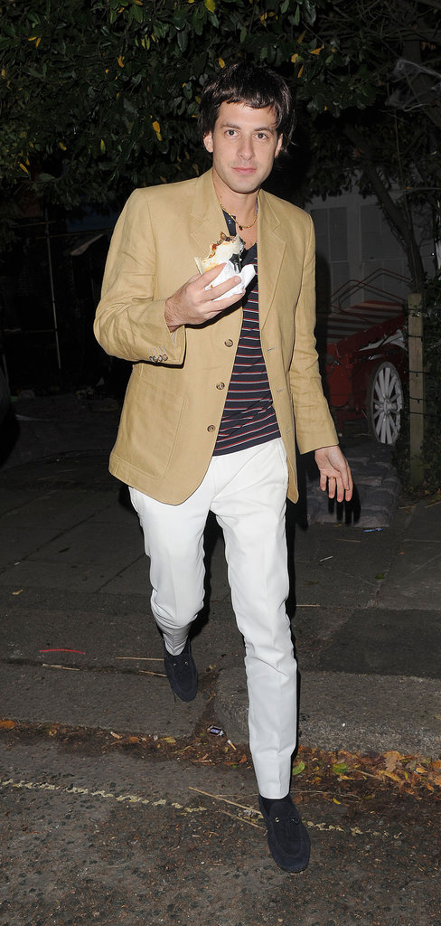 Mark Ronson partied in London on Halloween.