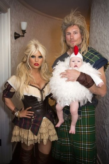 Jessica Simpson and Baby Maxwell Dress Up For Halloween