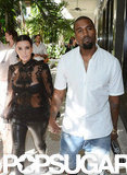 Kim Kardashian and Kanye West walked in Miami.