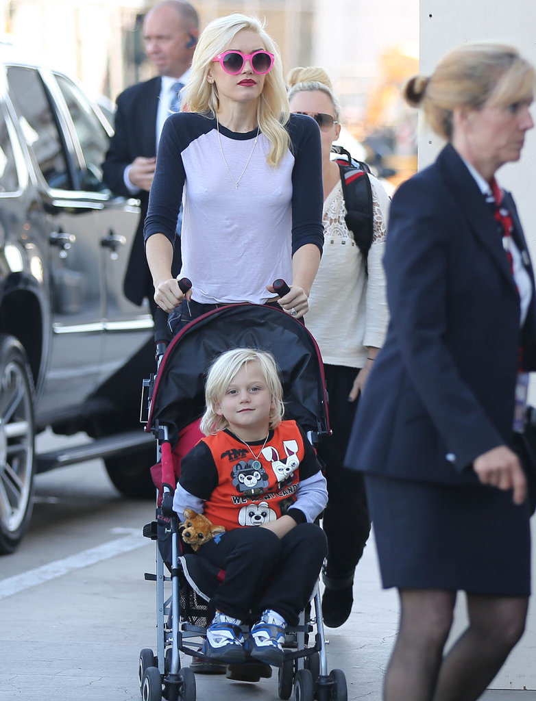 Gwen Stefani walked with her son Zuma.