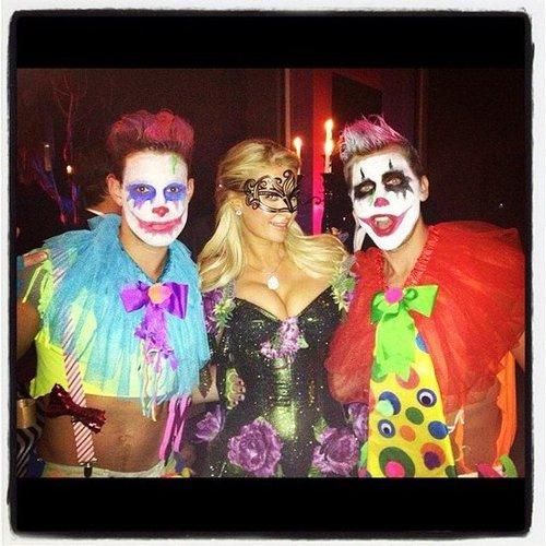 Lance Bass ran into Paris Hilton at a Halloween bash. Source: Instagram user lancebass