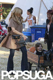 Rachel Zoe Preps For Halloween at the Pumpkin Patch With Skyler