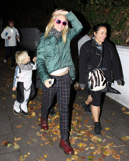 Gwen Stefani and Zuma Rossdale were out trick-or-treating.