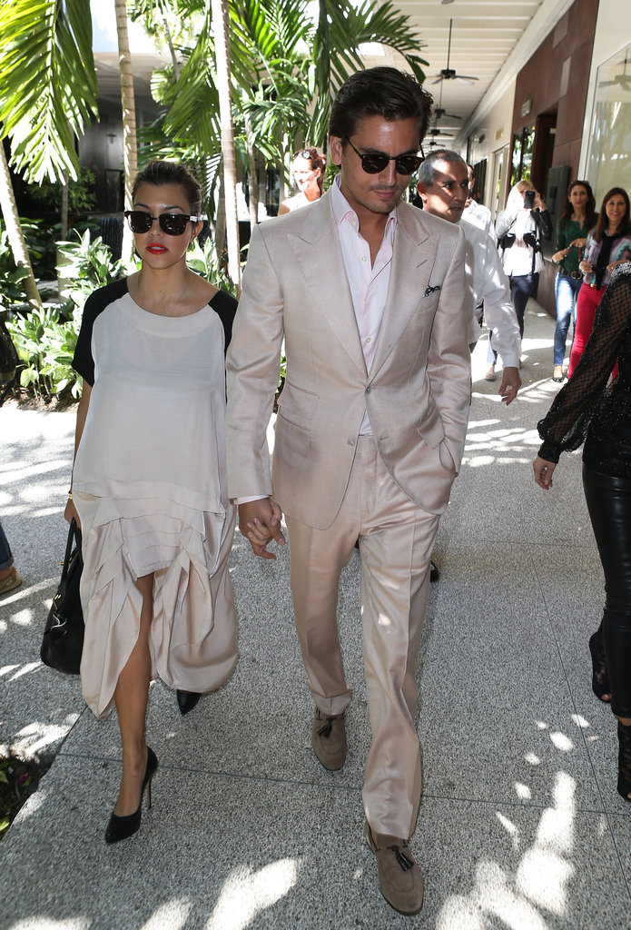 Kourtney Kardashian and Scott Disick held hands in Miami.