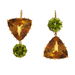 At first these Renee Lewis citrine peridot earrings ($9,000) don't look that mismatched, but upon closer inspection, you'll notice the subtle difference.