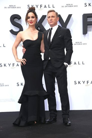 Bérénice Marlohe donned a gorgeous one-shoulder Giorgio Armani gown at the Skyfall Berlin premiere.