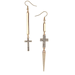 If you're into cross jewelry, these Topshop mismatched cross drop earrings ($18) would be a fun new take.