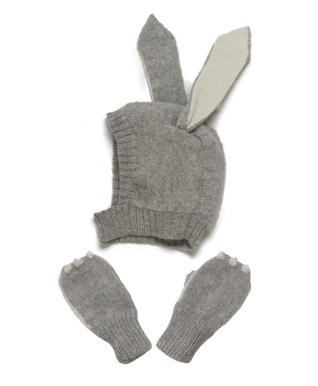 Oeuf Rabbit Hat and Mittens