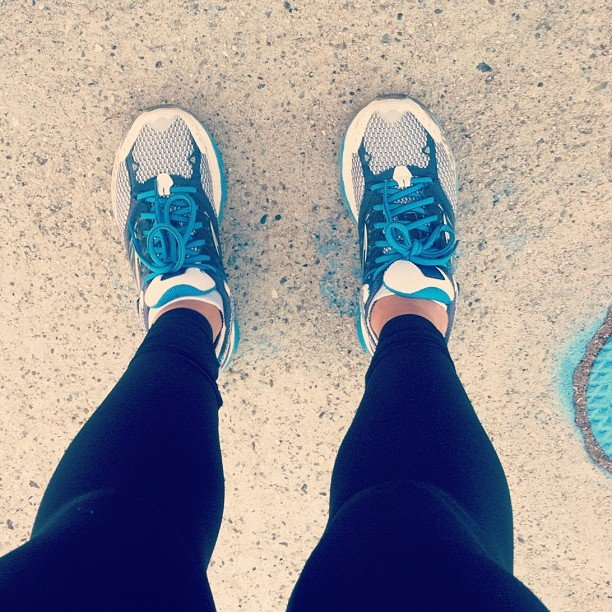 A trusty pair of Brooks running shoes got this reader through a 5-mile morning run. Source: Instagram user melindagale