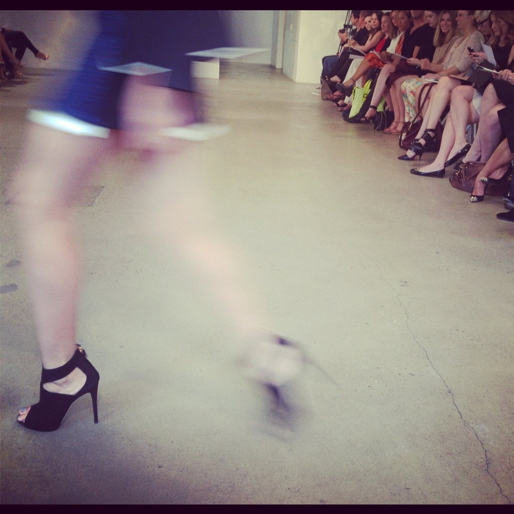 We were somewhat distracted by these phenomenal shoes during the show. Direct from Barneys New York, apparently.