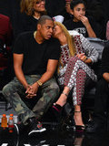 Beyoncé Knowles showed PDA with Jay-Z.