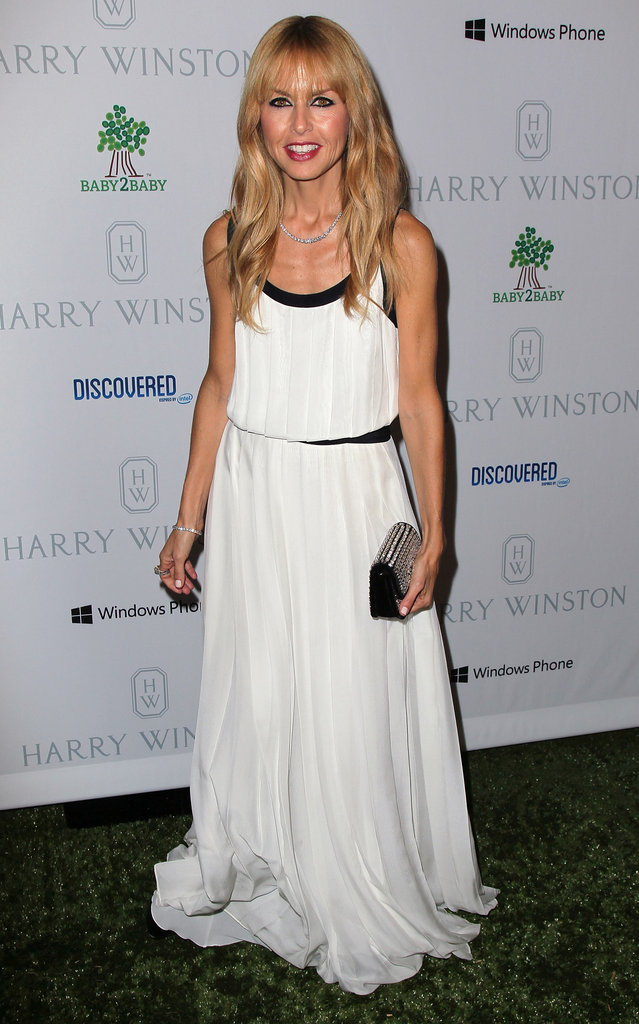 Rachel Zoe wore a black and white gown for the Baby2Baby Gala in LA.
