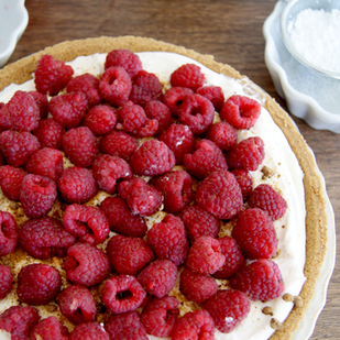 No-Bake Raspberry Tart