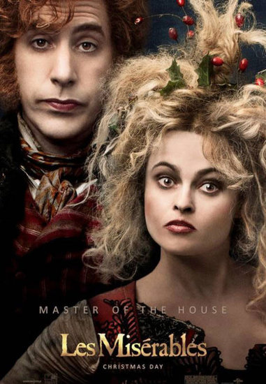 Sacha Baron Cohen and Helena Bonham Carter in Les Misrables