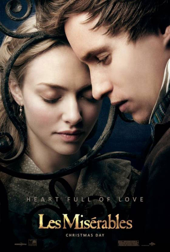 Amanda Seyfried and Eddie Redmayne in Les Misérables