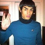 The Wanted member Siva Kaneswaran molded his eyebrows into perfect Spock replicas. Source: Twitter user SivaTheWanted