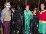 Batman and Co. The Kardashian clan — including Kanye West as Batman! — dressed up as the superhero and his fellow comic book characters.