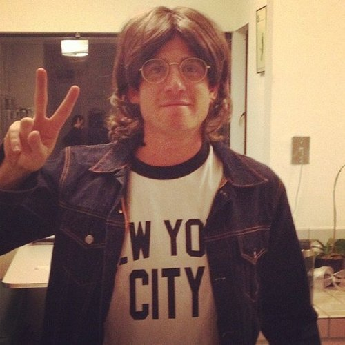 John Lennon Bryan Greenberg posed as a peaceful John Lennon. Source: Instagram user bryangreenberg