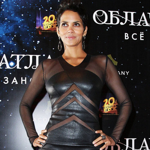 Halle Berry In Leather And Sheer Dress For Cloud Atlas
