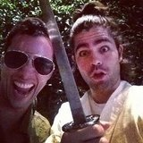 Adrian Grenier joked around with a friend. Source: Instagram user adriangrenier