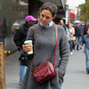 Katie Holmes Drinking Coffee in NYC | Pictures