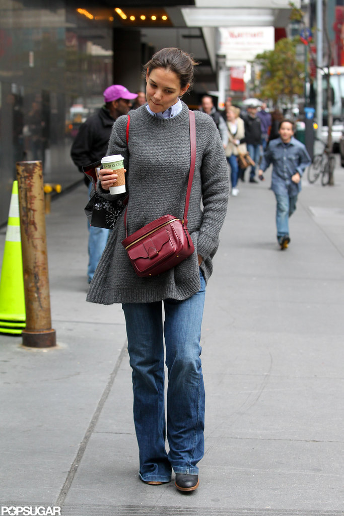 Katie Holmes spent the day in NYC.