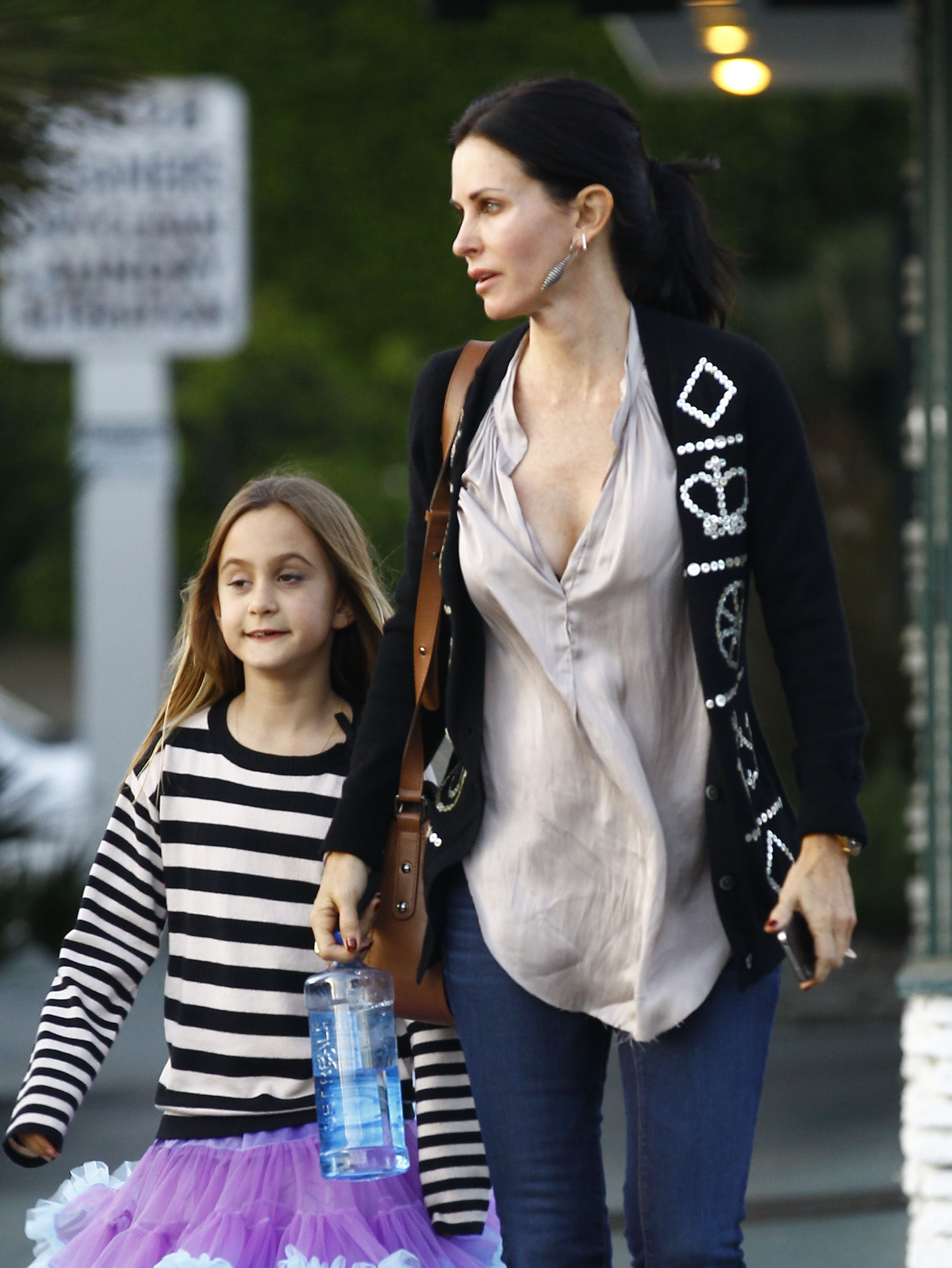 in Brentwood with Coco Arquette. | Courteney Cox and Her Daughter Coco ...