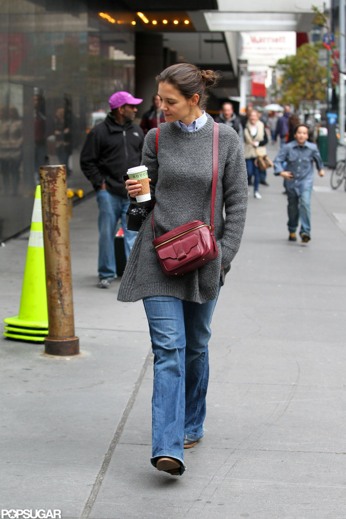 Katie Holmes went casual for a stroll.