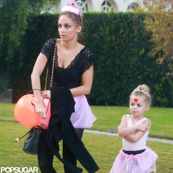 Nicole Richie went trick-or-treating with Harlow Madden.