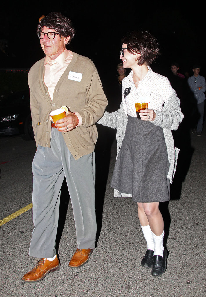 Calista Flockhart and Harrison Ford wore matching outfits for the holiday in LA in 2012.