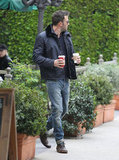 Ben Affleck left an LA Starbucks.