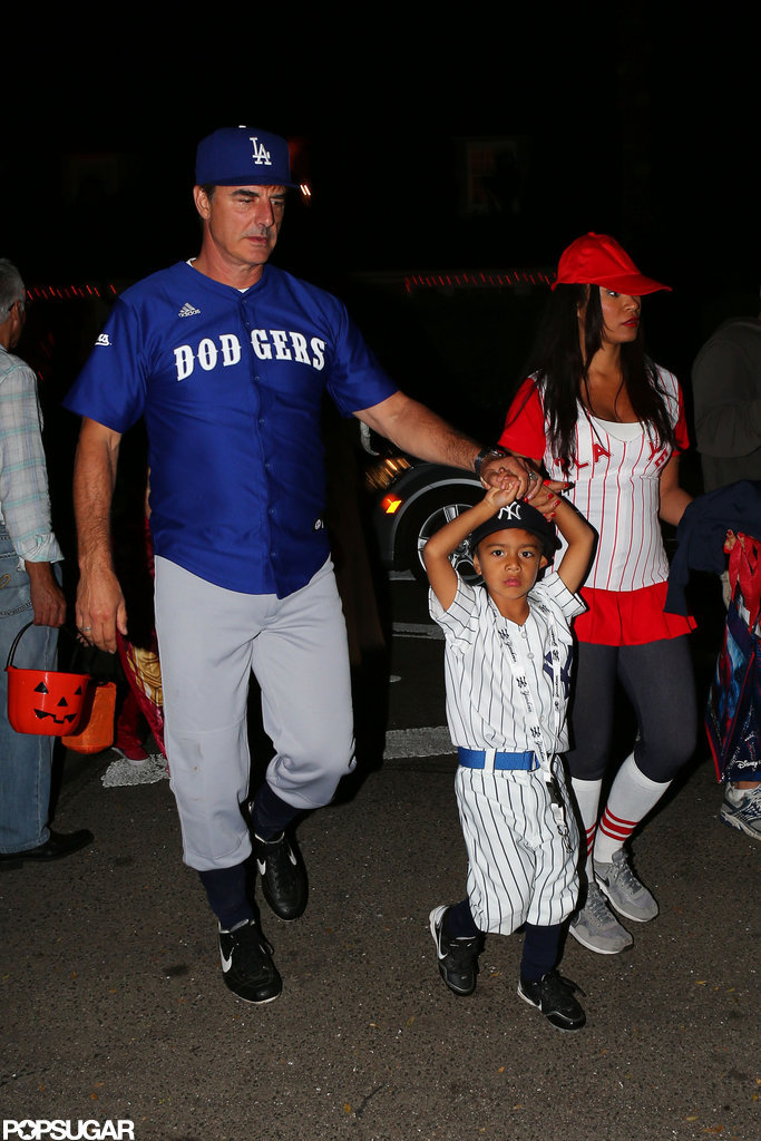 Chris Noth and his wife, Tara Wilson, brought their son trick-or-treating in Beverly Hills in 2012.