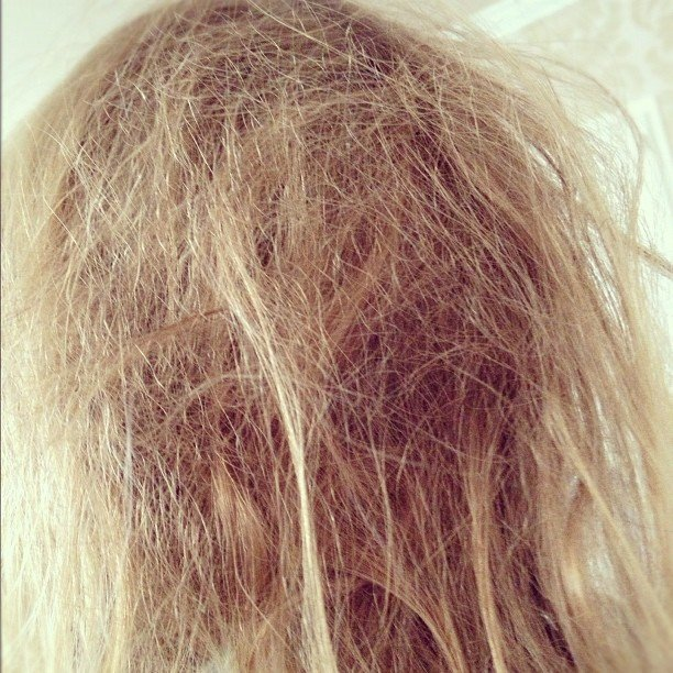 Tori Spelling couldn't get over the bedhead Stella woke up with one morning! Source: Instagram user torianddean