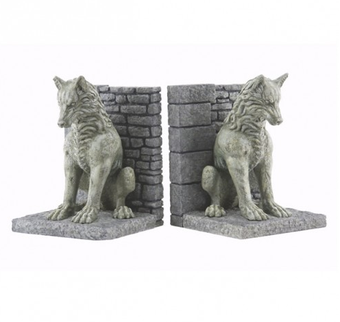 Game of Thrones Direwolf Bookends ($80)