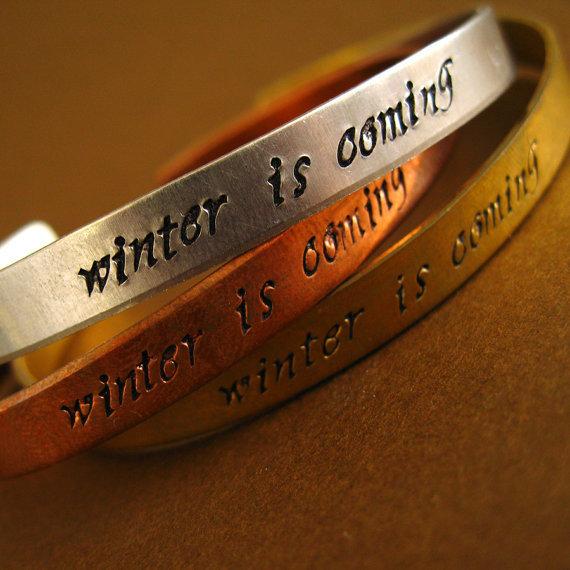 Winter Is Coming Cuff Bracelets ($18)
