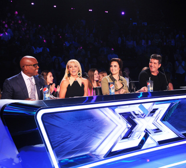 Britney, Demi, Simon, and L.A. Send X Factor Hopefuls Home