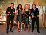 Jimi Westbrook, Karen Fairchild, Kimberly Schlapman and Phillip Sweet posed at the Country Music Association Awards in Nashville.