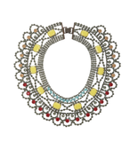 Vibrant hues and ample shimmer make this BCBG Max Azria Stone Statement Necklace ($148) a high-impact find that's perfect for dressing up even a white t-shirt.