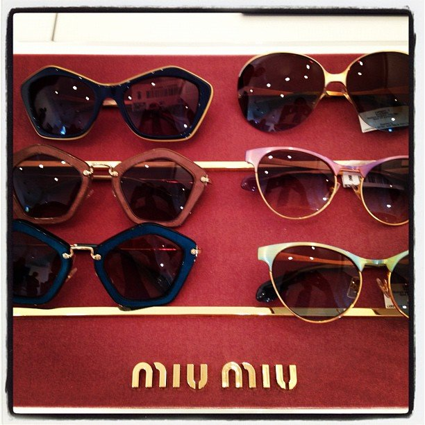 New Miu Miu eyewear! Some of these babies are made of suede. Luxe.