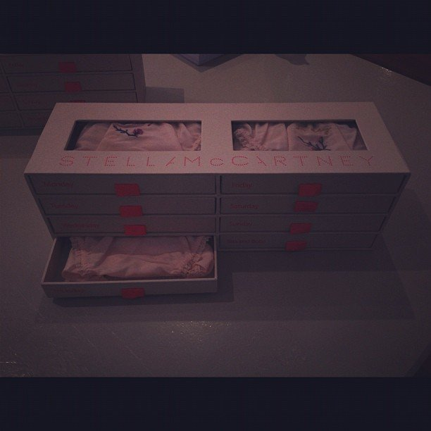 A drawer a day! Cute Stella McCartney packaging.