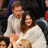 Drew Barrymore And Will Kopelman At Basketball Game