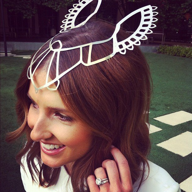 Kate Waterhouse wearing a HatMaker headpiece. Source: Instagram user katewaterhouse7