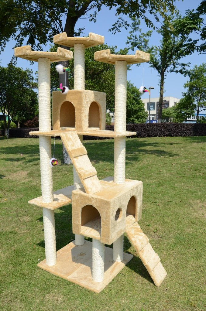 Got more than one cat? The Pawhut cat tree ($160) features multiple landings, houses, and sisal rope posts for hours of scratching.