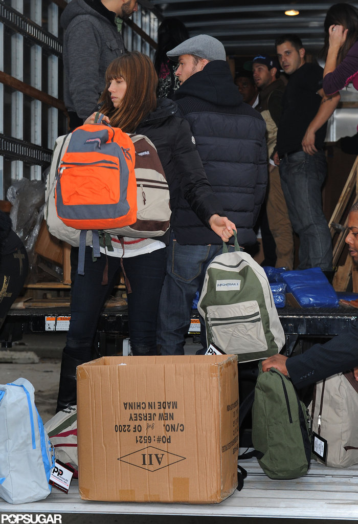 Justin and Jessica Wrap Up the Honeymoon to Help Sandy Relief Efforts in NYC