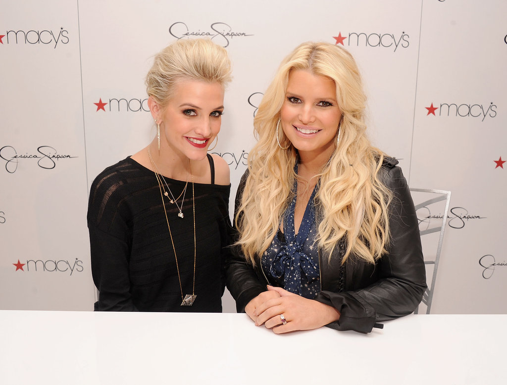 Jessica Simpson and Ashlee Simpson went to South Coast Plaza.
