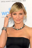 Cameron Diaz wore a strapless Lanvin dress.