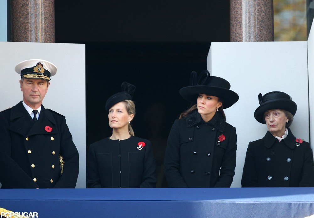 Kate Middleton and Sophie, Countess of Essex, attended a parade.
