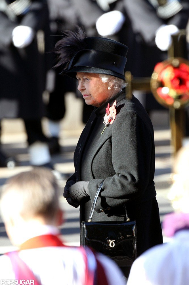 Queen Elizabeth walked in the Remembrance Sunday parade.