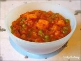 Paneer &amp; Green Peas in a Tomato Gravy (Mutar Paneer)