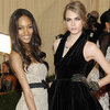 Cara Delevingne, Jourdan Dunn in Victoria's Secret Show 2012